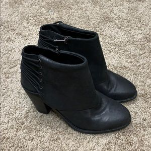 Jessica Simpson black ankle boots